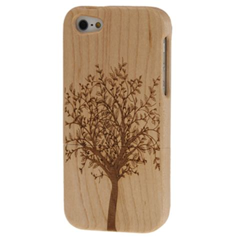 Casing Iphone 5s Bamboo tree pattern wood bamboo material detachable wood