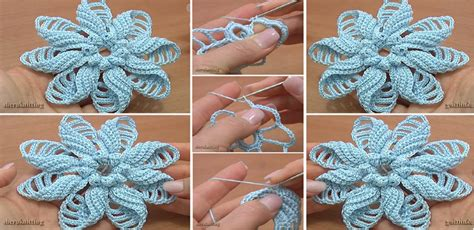 free patterns and instruction on making flower hair clips crochet folded petal flower free crochet video tutorials
