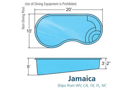 jamaica small fiberglass inground viking swimming pool