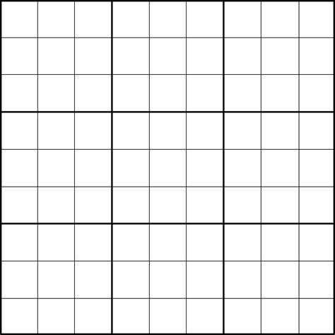 Vorlage Quartett Word File Sudoku Template Png Wikimedia Commons