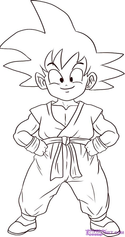 coloring pages goku kid goku coloring pages coloring home