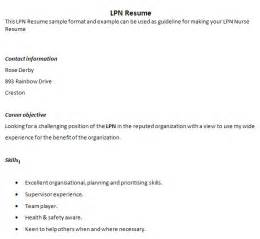 Sle Lpn Resume Objective by Practical Nursing Resume In Canada Sales Nursing Lewesmr