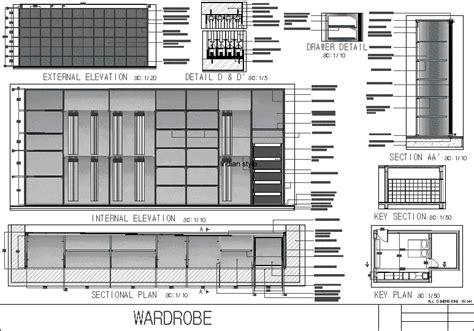 built  closet wardrobe dwg plan  autocad designs cad
