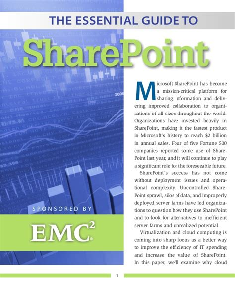 the essential guide to white paper the essential guide to sharepoint