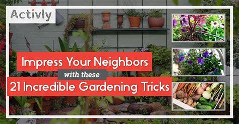 Gardening Tricks Impress Your Neighbors With These 21 Gardening