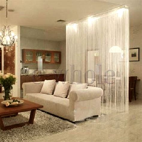 room divider curtain wall white fringe door window panel room divider string curtain