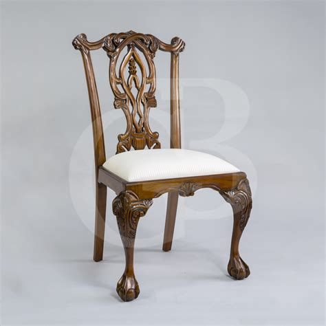 Chippendale Style Dining Chairs Four New Solid Mahogany Chippendale Style Dining Chairs With And Claw
