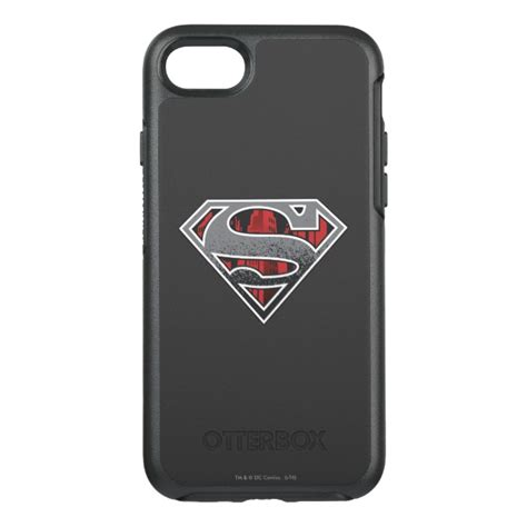 Superman Iphone 7 superman s shield grey and city logo otterbox