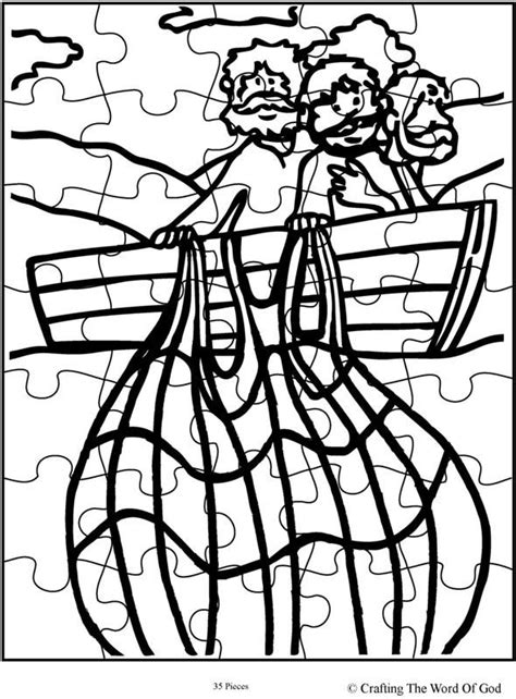 sunday school coloring pages fish miraculous catch of fish puzzle activity sheet activity