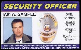 security guard id card template id
