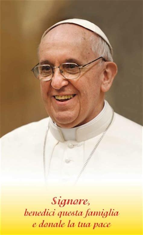 benedizione delle benedizione delle famiglie con papa francesco
