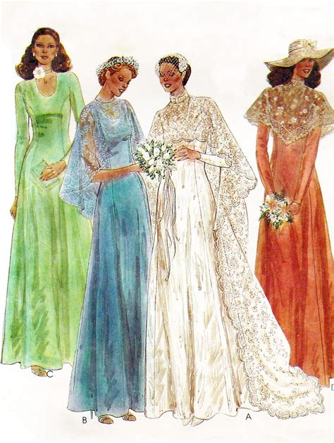 Baby Shower Long Dresses - 1970s wedding dress pattern mccalls 6895 70s by quincevintage wedding interest