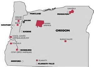oregon indian reservations map fourth grade social studies livebinder