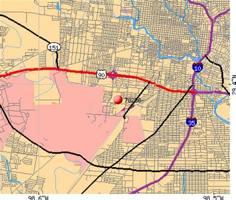 zip code map san antonio texas san antonio zip code map