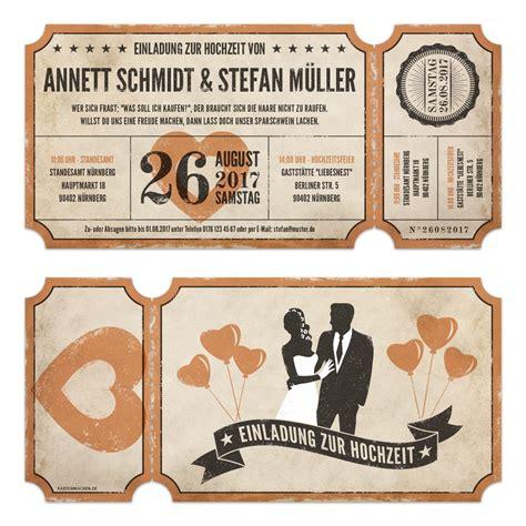 hochzeitseinladung ticket lasergeschnittene hochzeitseinladungen vintage ticket