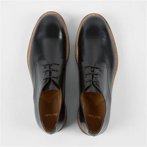 paul smith s black leather albany shoes with