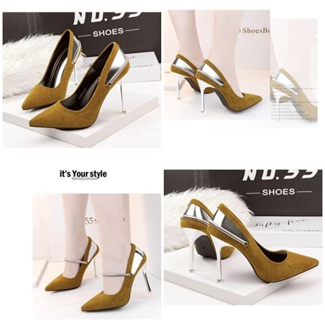 Sepatu Wedges Wanita 10cm On04 jual shh51583 yellow sepatu heels suede wanita 10cm