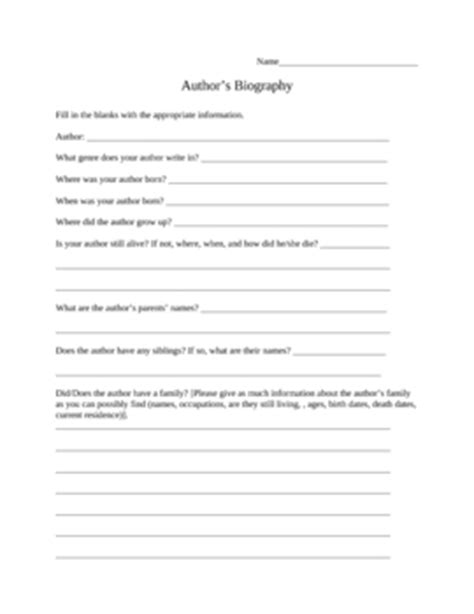 biography quiz biography questions worksheet geersc