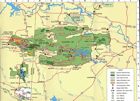 ouachita national forest map s cottage ouachita national forest