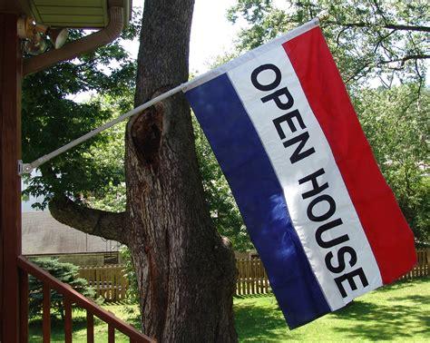 white house flag open house flag