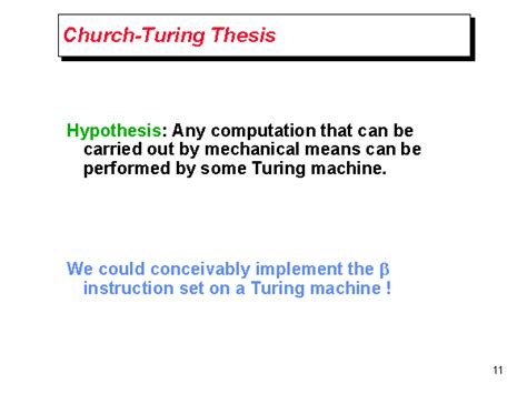 church s thesis church turing thesis
