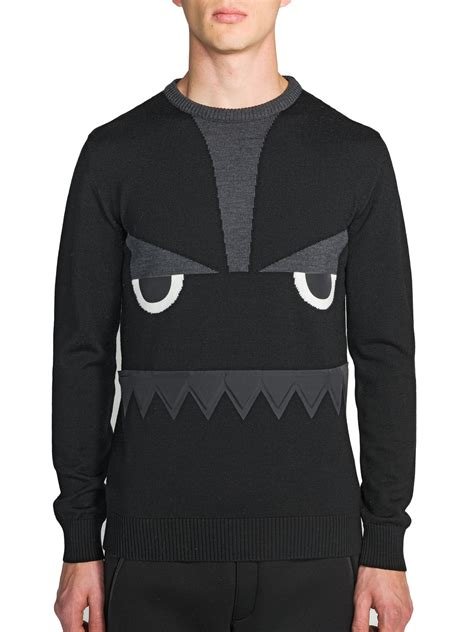 Sweater Fendi Fendi Wool Sweater In Black For Lyst