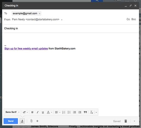 email line add a sign up prompt to your email signature line
