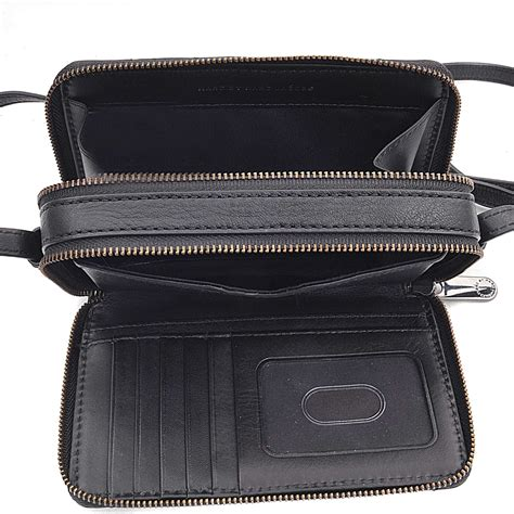 Dompet Wallet Bb Gemini marc by marc sophisticato crosby quilt leather gemini crossbody wallet in black lyst