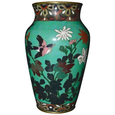 antique meiji period japanese green cloisonn 233 vase for
