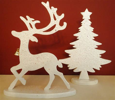 tabletop christmas tree reindeer by tailored chocolates