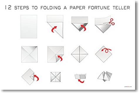 the gallery for gt how to make a paper fortune teller