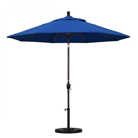 Tilting Patio Umbrella California Umbrella 9 Ft Aluminum Push Tilt Patio