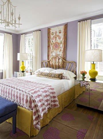 aesthetic oiseau yellow lavender boho glam bedroom