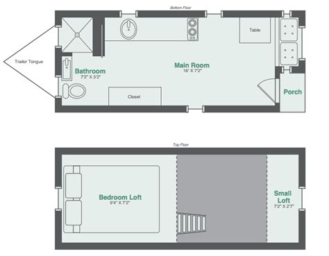 small house floorplan monarch tiny homes makes this 8x20 tiny house model