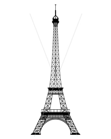 eiffel tower template eiffel tower template pencil and in color