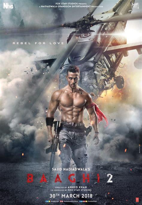 god of war film bg audio baaghi 2 poster tiger shroff looks fearless as ronnie