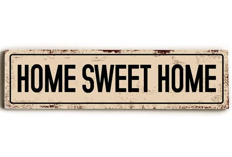 home sweet home wood sign signs from one