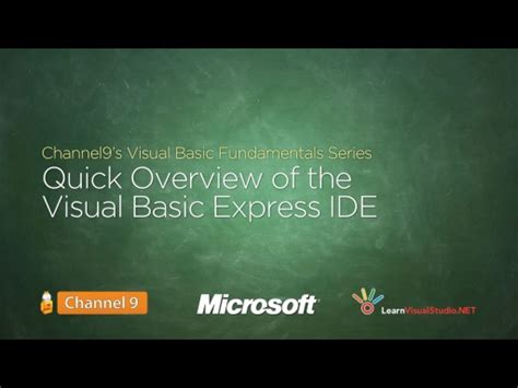 quick overview of the visual basic express edition ide