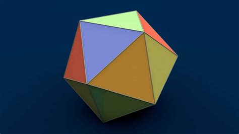 Origami 3d Shapes - net of solid shapes icosahedron