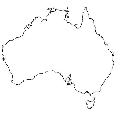 Australia Outline Map by Vermints Made It To Australia Vermints Inc