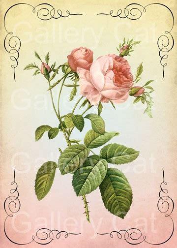 printable calendar vintage roses antique cabbage rose digital collage sheet instant by