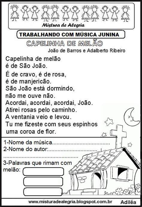 musica da m 218 sicas juninas interpreta 199 213 es atividades imprimir