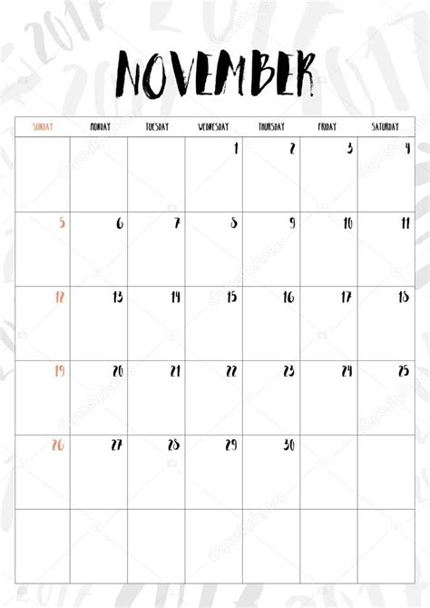 Calendario Noviembre 2017 Chile Dinero Santander Light