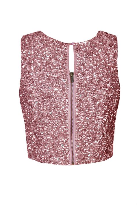 beaded and sequined tops lace picasso fuchia sequin top lace tops