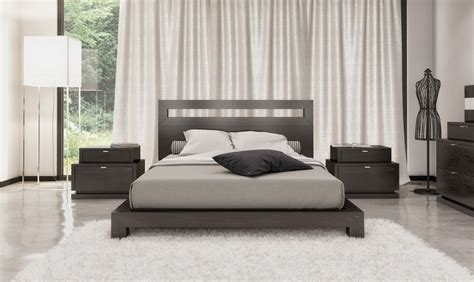Stylish Black Contemporary Bedroom Sets For White Or Gray Stylish Bed Sets
