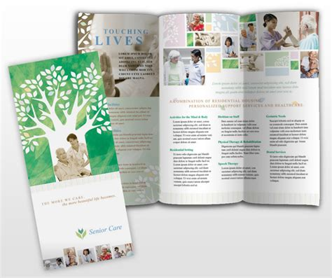 home health care brochure templates elder care nursing home services brochure templates