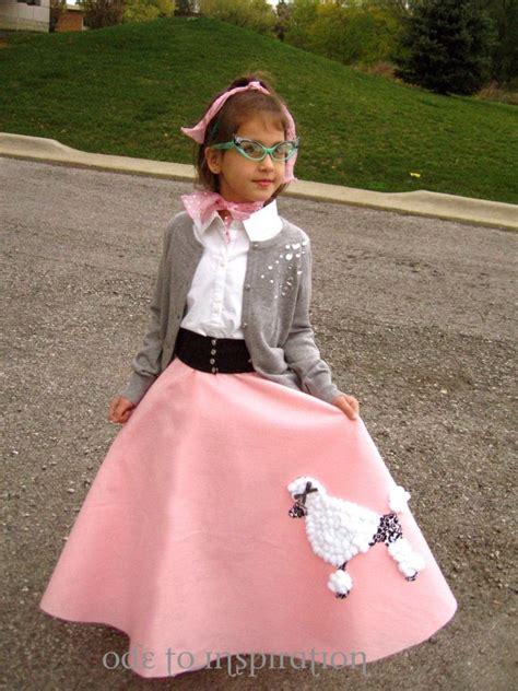 diy sock hop skirt for kindergarten 50 s day for the kindergarten poodle and costumes