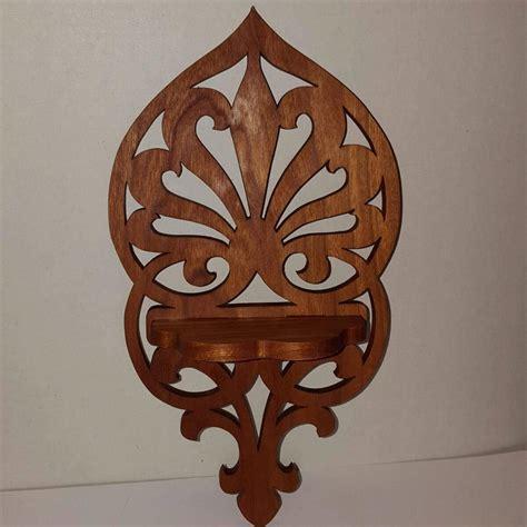 wooden fleur de lis shelf oxford wood crafts handmade