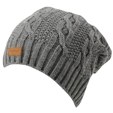 mens knit hat with brim firetrap mens slouch beanie winter warm hat cap cable knit