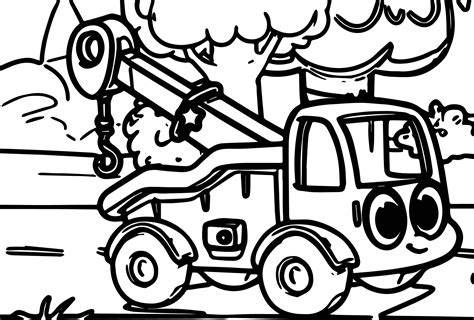 tow truck coloring pages auromas com